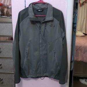 Gray Zip up north face jacket